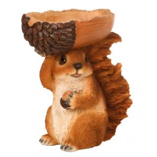 Esschert Design Eichhörnchen mit Futterspender-Eichel 18, 5×10×20, 5 cm