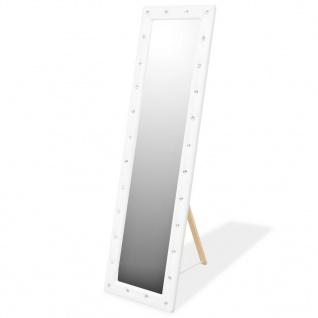vidaXL Standspiegel Kunstleder 45 x 150 cm Glänzendes Weiß