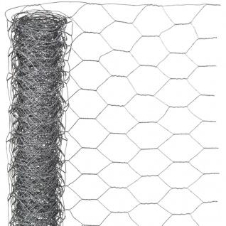 Nature Sechseckgeflecht 0, 5x10 m 25 mm Verzinkter Stahl