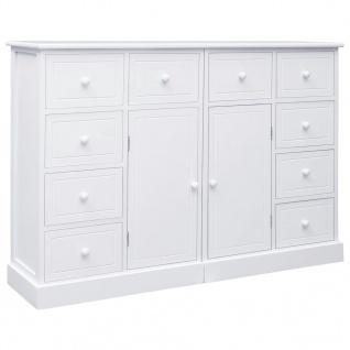 vidaXL Sideboard mit 10 Schubladen Weiß 113 x 30 x 79 cm Holz