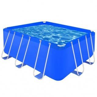 Schwimmanlage Stahlrahmen Rechteckig, Oberirdisch 8870 L