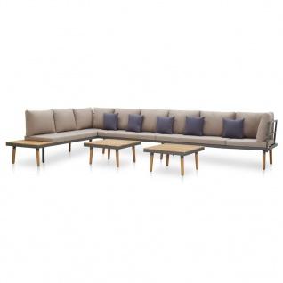 vidaXL 7-tlg. Garten-Lounge-Set mit Auflagen Massivholz Akazie