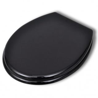 vidaXL Toilettensitz MDF Deckel ohne Absenkautomatik Design Schwarz - Vorschau 2