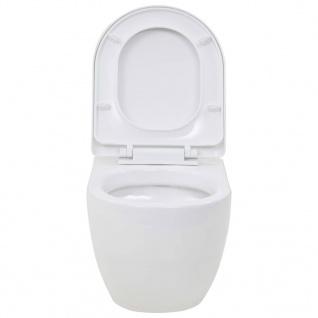 vidaXL Wand-WC Keramik Weiß - Vorschau 5