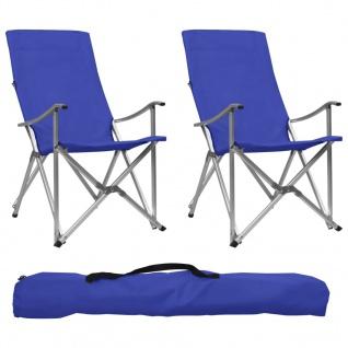 vidaXL Klappbare Campingstühle 2 Stk. Blau