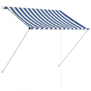 vidaXL Einziehbare Markise 150 x 150 cm Blau und Weiß