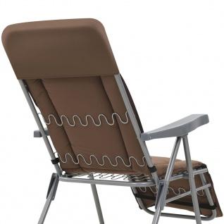 vidaXL Klappbare Gartenstühle mit Auflagen 2 Stk. Braun - Vorschau 5