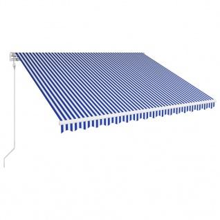 vidaXL Automatisch Einziehbare Markise 450×300 cm Blau und Weiß