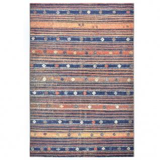 vidaXL Teppich Blau und Orange 120 x 170 cm PP