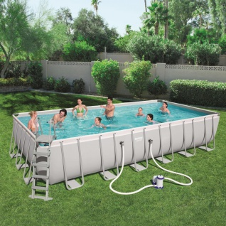 Bestway Power Steel Swimmingpool-Set Rechteckig 732×366×132 cm 56474