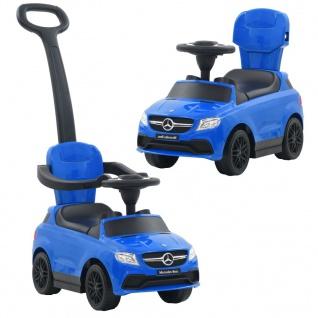 vidaXL Kinder-Aufsitzauto mit Schiebstange Mercedes Benz GLE63 Blau