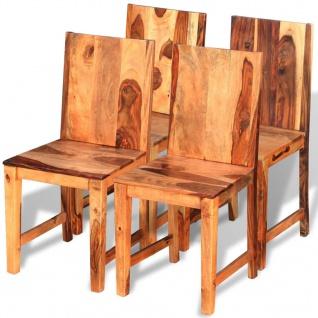 vidaXL Esszimmerstühle 4 Stk. Sheesham-Holz