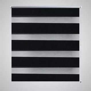 Doppelrollo 40 x 100 cm schwarz