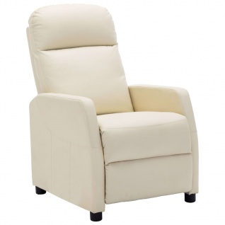 vidaXL Sessel Cremeweiß Kunstleder