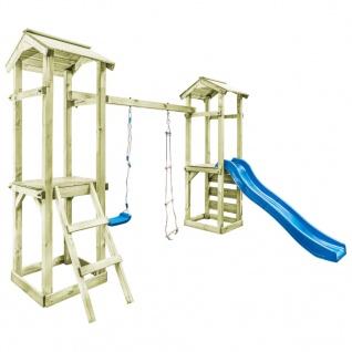 vidaXL Spielturm mit Leiter Rutsche Schaukel 300x197x218 cm Holz - Vorschau 2