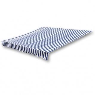 vidaXL Markisenbespannung Canvas Blau & Weiß 3 x 2, 5 m (ohne Rahmen)