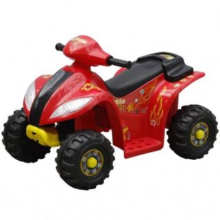 Kinder Elektro Quad 3 km/h Akku rot-schwarz - Vorschau 1