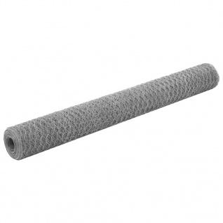 vidaXL Drahtzaun Verzinkter Stahl 25x1, 2 m Silbern