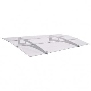 vidaXL Haustürvordach Sibern und Transparent 150×90 cm Polycarbonat