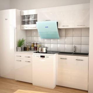 vidaXL 5-tlg. Küchenzeile Set mit Dunstabzugshaube Hochglanz Weiß