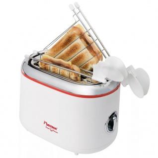 Bestron ATM200RE Sandwichtoaster mit 2 Toast-Halterungen - Vorschau 1