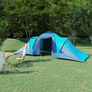 vidaXL Campingzelt 6 Personen Blau und Hellblau