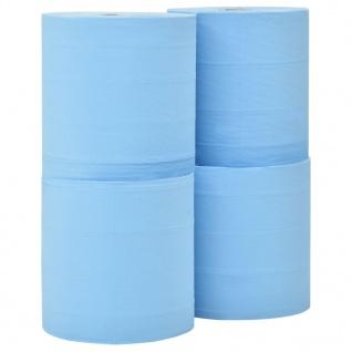 vidaXL 3-lagige Industrielle Papier-Wischtücher 4 Rollen 26 cm