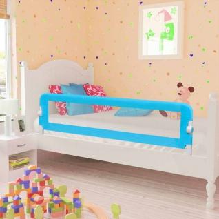 vidaXL Kleinkind Bettschutzgitter 2 Stück Blau 150 x 42 cm - Vorschau 1