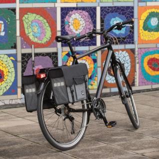 Willex Fahrradtaschen 33 L Abgeschrägt Schwarz und Grau 10713 - Vorschau 2
