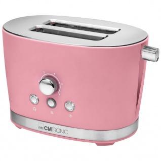 Clatronic 2 Scheiben-Toaster TA 3690 850 W Retro Rosa