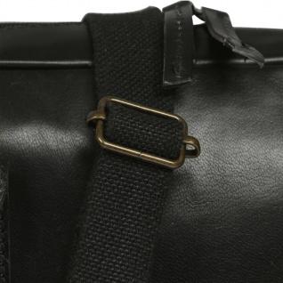 vidaXL Laptoptasche mit Reißverschluss Echtleder Schwarz - Vorschau 4
