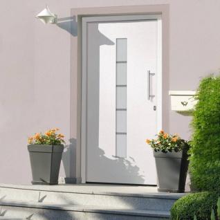 vidaXL Haustür Aluminium und PVC Weiß 110x210 cm