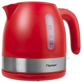 Bestron Elektrischer Wasserkocher 2150 W 1 L Rot AWK1000R