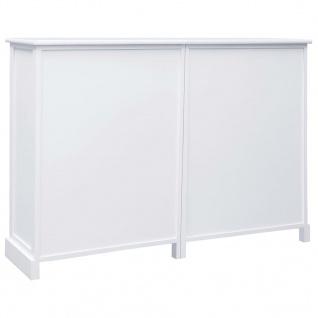 vidaXL Sideboard mit 10 Schubladen Weiß 113 x 30 x 79 cm Holz - Vorschau 5