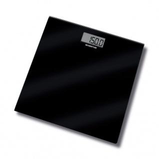 Inventum Badezimmer Glaswaage Schwarz 150 kg PW406GB