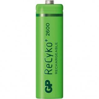 GP ReCyko+ Wiederaufladbare AA-Batterien 4 Stk. 2600 mAh 120270AAHCBC4