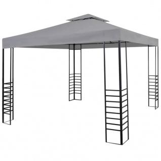 vidaXL Gartenpavillon Pulverbeschichteter Stahl 300x300x270m Anthrazit