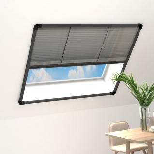vidaXL Insektenschutz-Plissee für Fenster Alu Anthrazit 100x130 cm