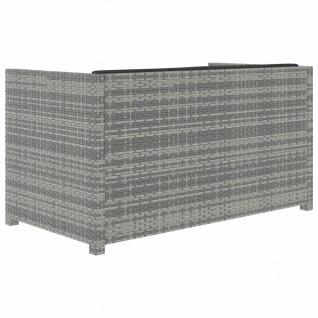 vidaXL 5-tlg. Garten-Lounge-Set mit Auflagen Poly Rattan Grau - Vorschau 4