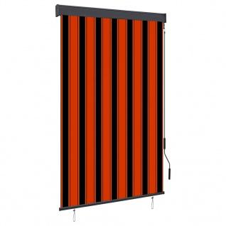 vidaXL Außenrollo 120 x 250 cm Orange und Braun
