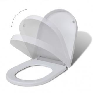 vidaXL Toilettensitze mit Absenkautomatik 2 Stk. Kunststoff Weiß - Vorschau 2