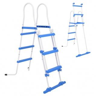 vidaXL Sicherheitsleiter für Aufstellpools 3 Stufen 107 cm