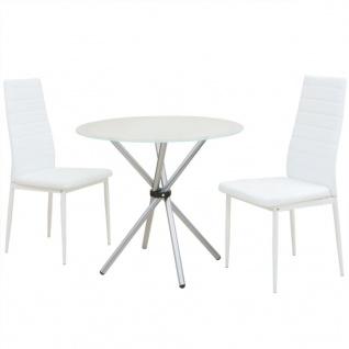vidaXL 3-tlg. Essgarnitur Esstisch mit Stühlen