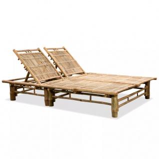 vidaXL 2-Personen-Sonnenliege Bambus