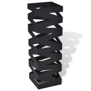 Schirmständer Schirmhalter Gehstock Stahl schwarz quadratisch 48, 5 cm
