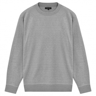 vidaXL Herren Pullover Sweater Rundhals Grau XL