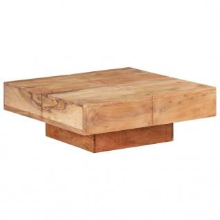 vidaXL Couchtisch 80x80x28 cm Massivholz Akazie