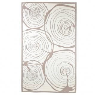 Esschert Design Outdoor-Teppich 240x150 cm Jahresringe