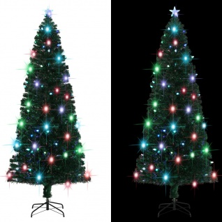 vidaXL Künstlicher Weihnachtsbaum mit Ständer/LED 240 cm 380 Zweige