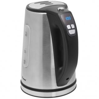Bestron Digitaler Wasserkocher 1, 7 L 2200 W Silber/Edelstahl DDK2200